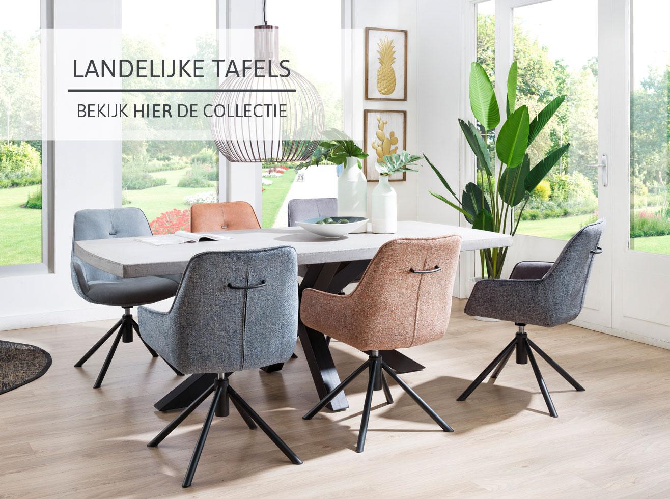 Landelijke tafels bij Home Center
