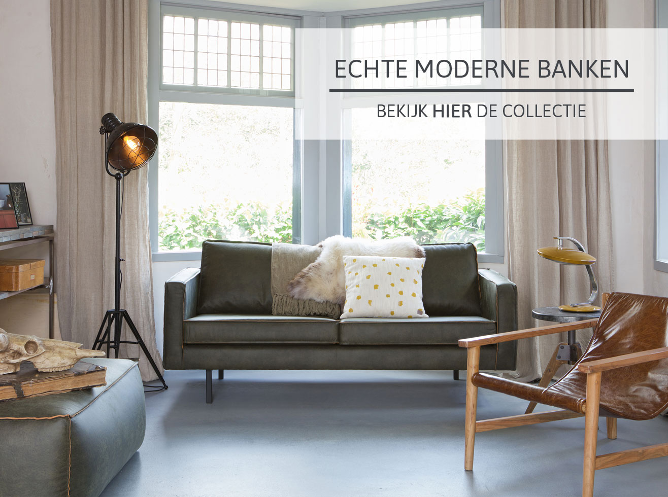 Moderne banken bij Home Center