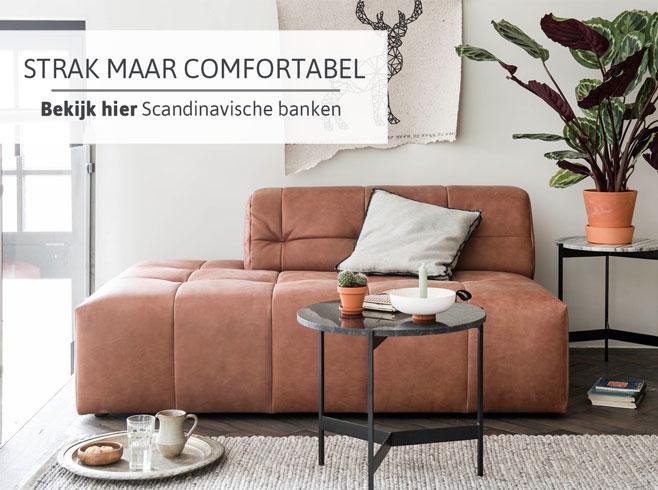 Strak maar comfortabel - bekijk hier Scandinavische banken