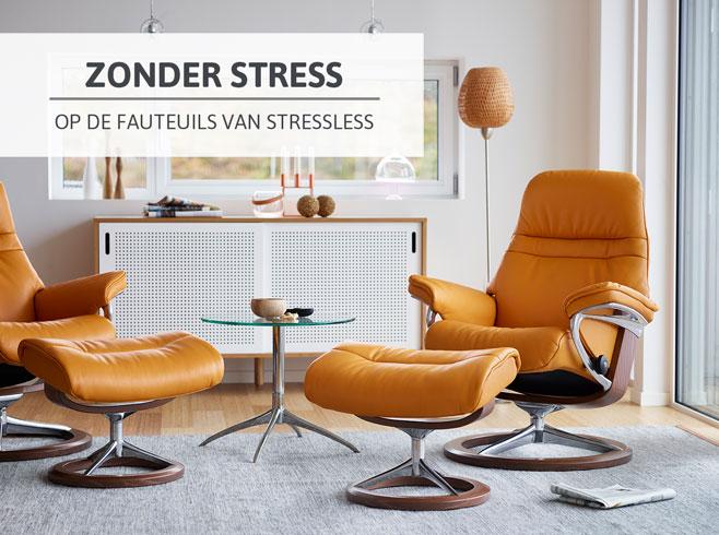 Zonder stress op de fauteuils van Stressless