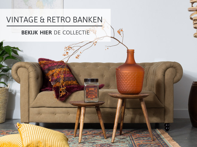 Vintage banken bij Home Center
